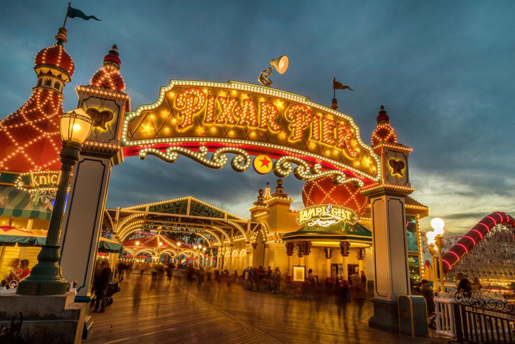 Pixar Pier Disney California Adventure