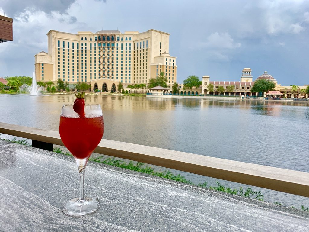 View of Gran Destino Tower from Three Bridges Bar and Grill
