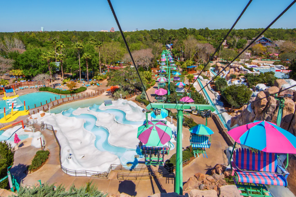 Chairlift at Disney's Blizzard Beach