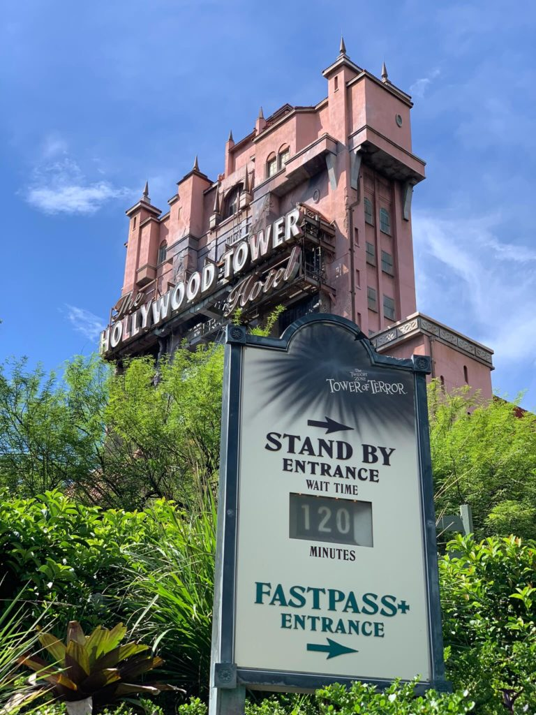 Tower of Terror Entrance Sign