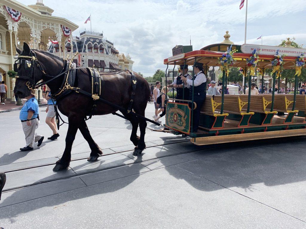 Trolley on Main Street U.S.A.