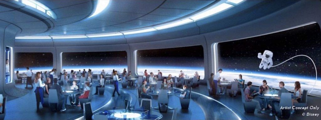 Space Themed Restaurant at Epcot Concept Art