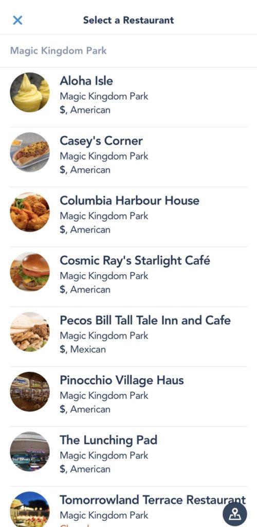 Mobile Ordering Walt Disney World