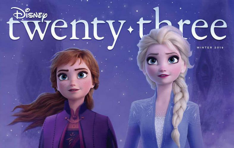 Frozen 2 Makes the Cover of Disney twenty-three