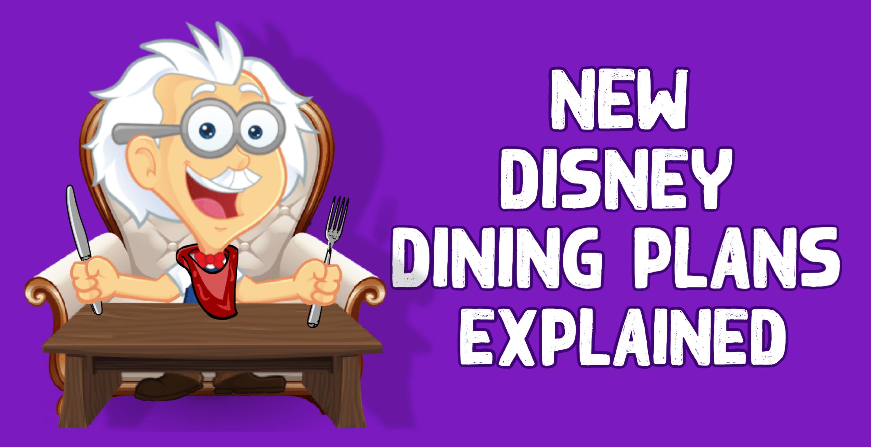 Disney Dining Plans Comparison Chart