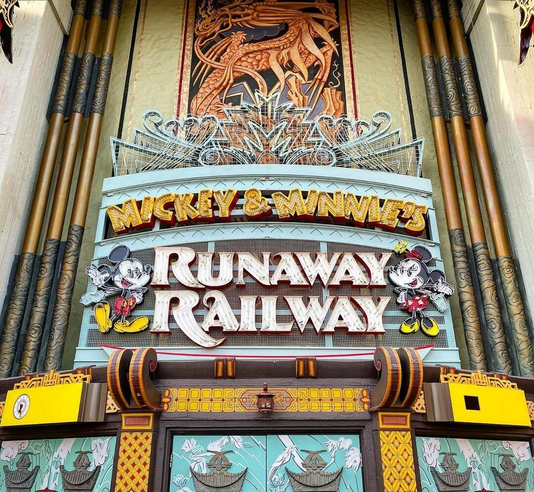 Mickey & Minnie Runaway Railway Marquee in Place