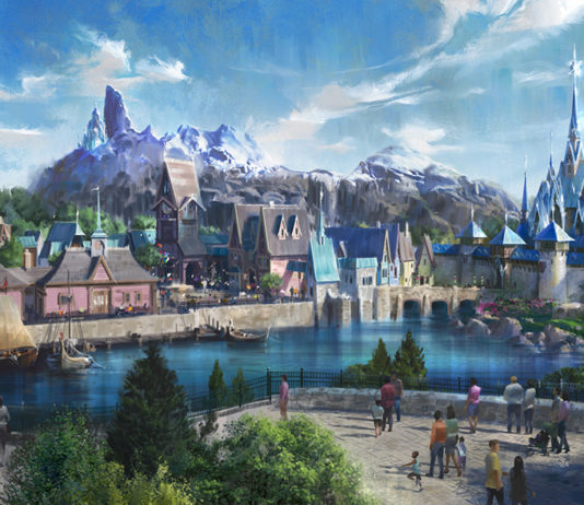 frozen land Disneyland Paris