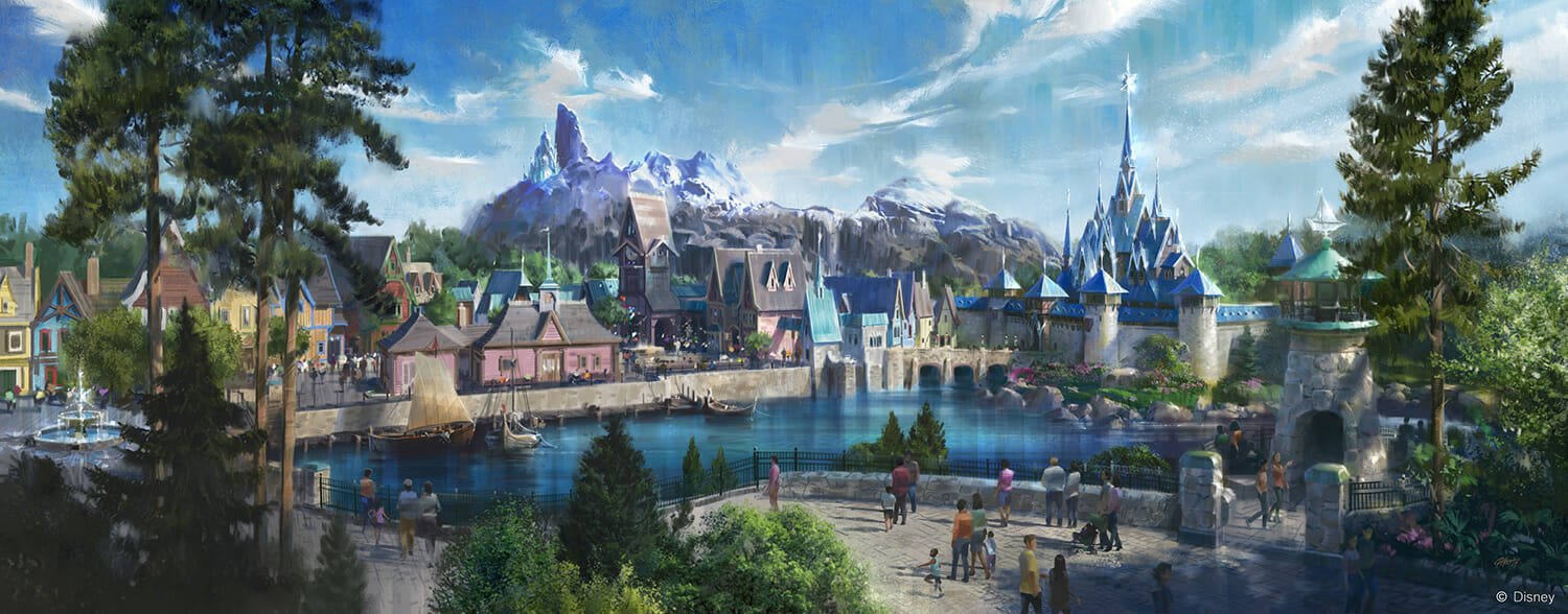 frozen land Disneyland Paris