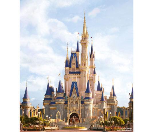 Cinderella Castle Gold makeover