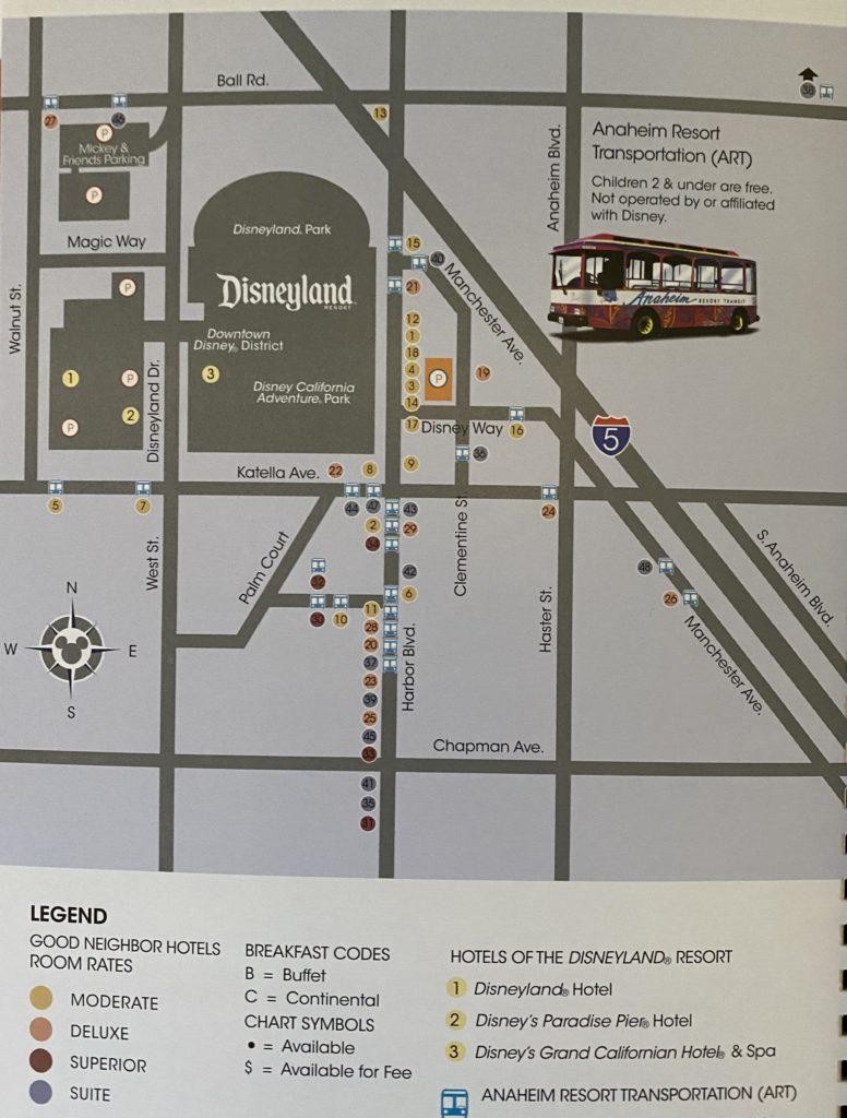 Disneyland Resort Good Neighbor Hotel Comparison Chart