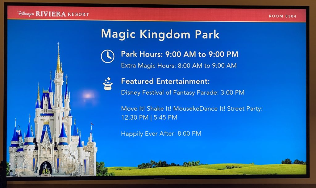 Walt Disney World Televisions
