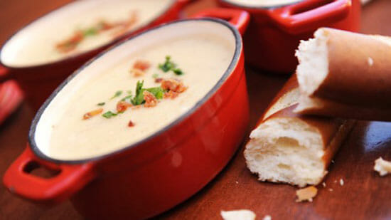 Recipe: Canadian Cheddar Cheese Soup from Le Cellier Steakhouse at EPCOT