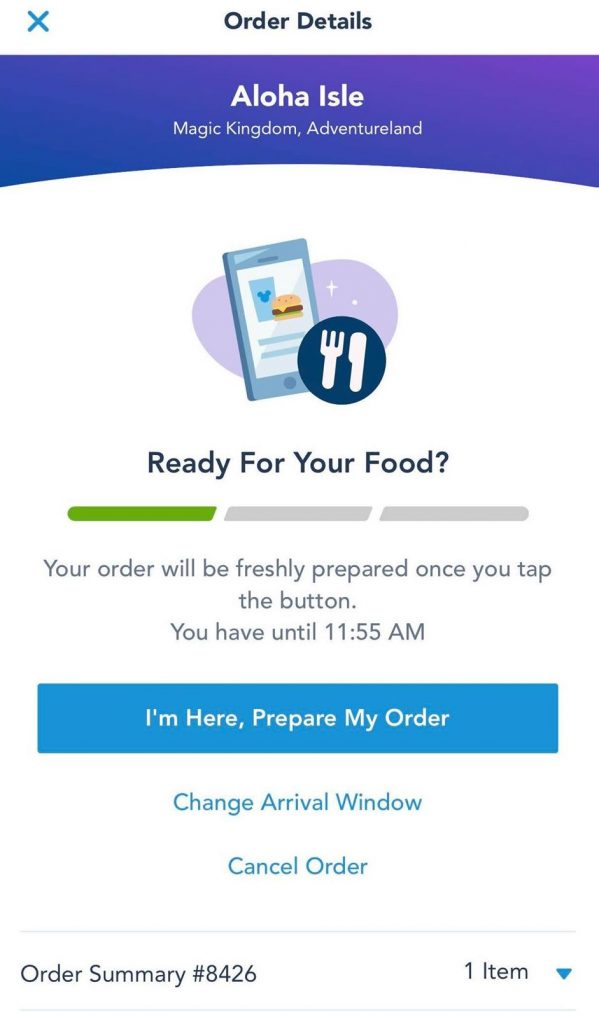 Mobile Ordering Walt Disney World