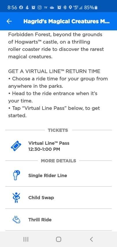 Universal's Virtual Line Pass