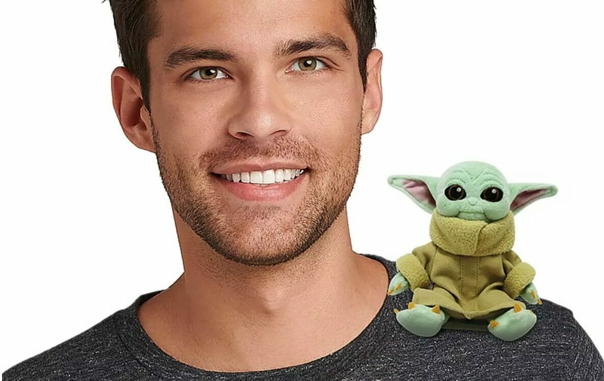 New Baby Yoda Magnetic Shoulder Plush Now on shopDisney