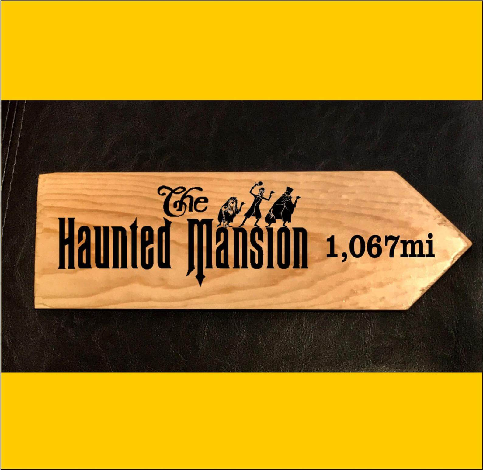 Haunted Mansion Happy Place Sign