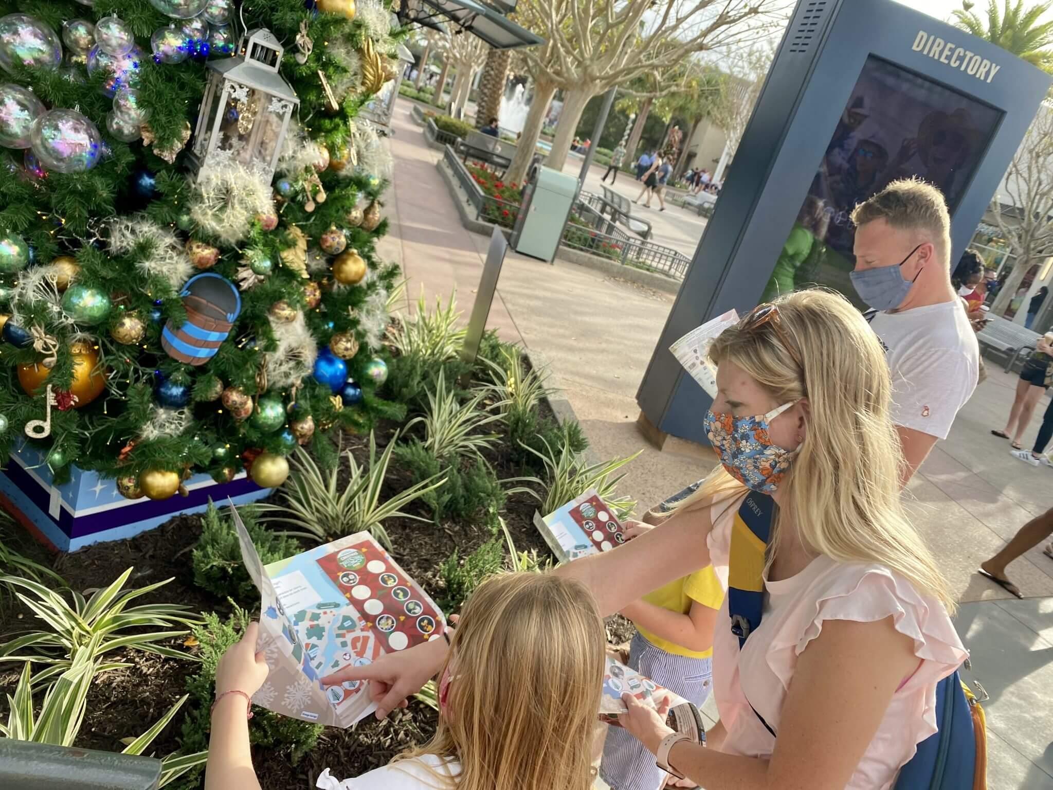Christmas Tree Stroll Disney Springs