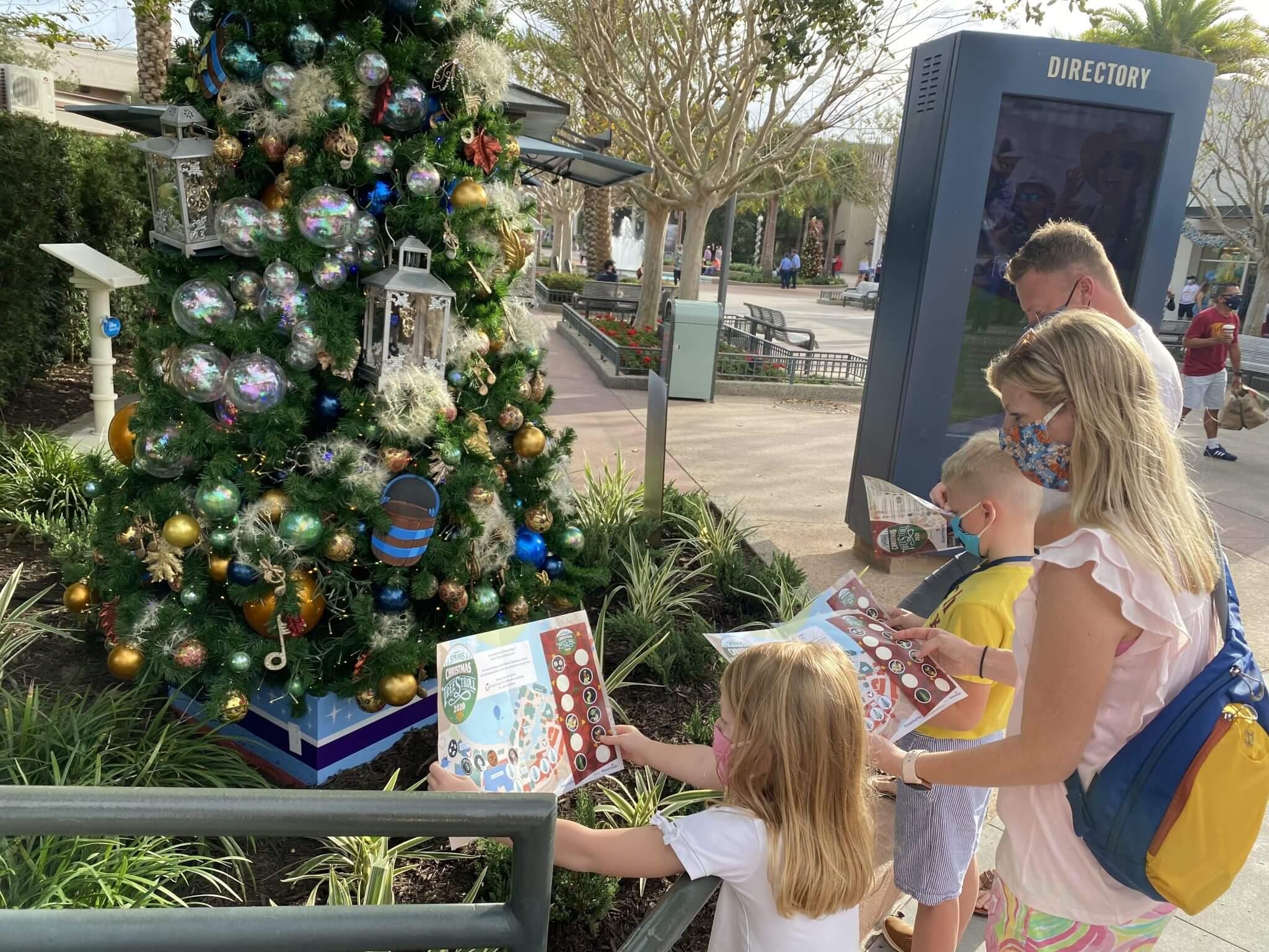 Christmas Tree Stroll At Disney Springs 2020 Theme Park Professor