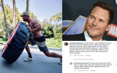 Chris Pratt Asks Chris Hemsworth to Stop Working Out