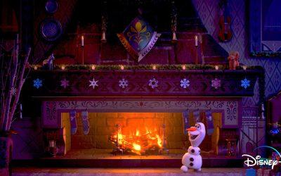 Arendelle Castle Yule Log Now On Disney+