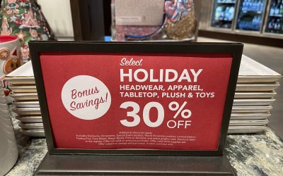 All Holiday Merchandise 30% off at Disney Parks
