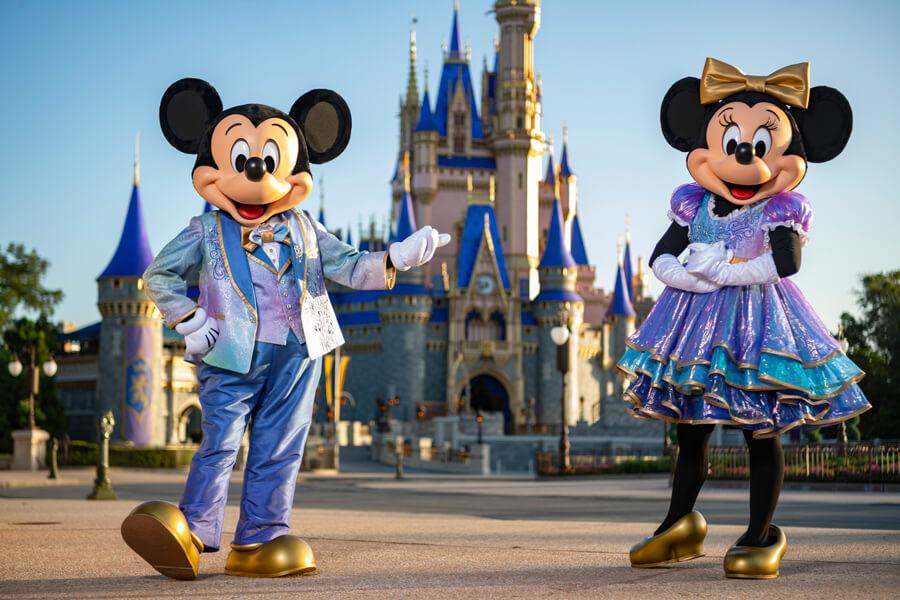 50th Anniversary Cinderella Castle Walt Disney World Magic Kingdom Mickey and Minnie Costume