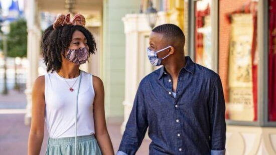 Walt Disney World Guests with Mask