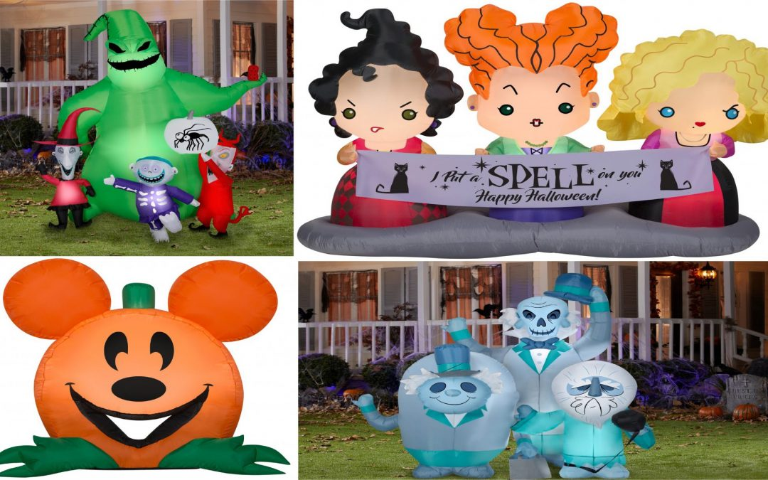 Haunted Mansion and Mickey Pumpkin Inflatables For Your Yard Coming This Spooky Season