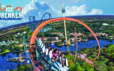 SeaWorld Orlando's Newest Rollercoaster the Ice Breaker Will Open in February of 2022