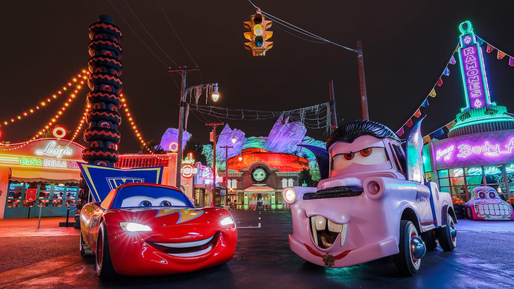 Characters at Disneyland