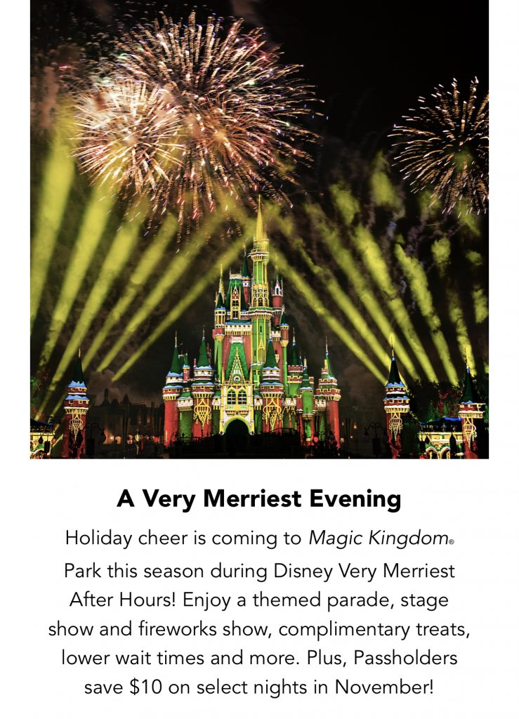 Disney Very Merriest After Hours at Magic Kingdom